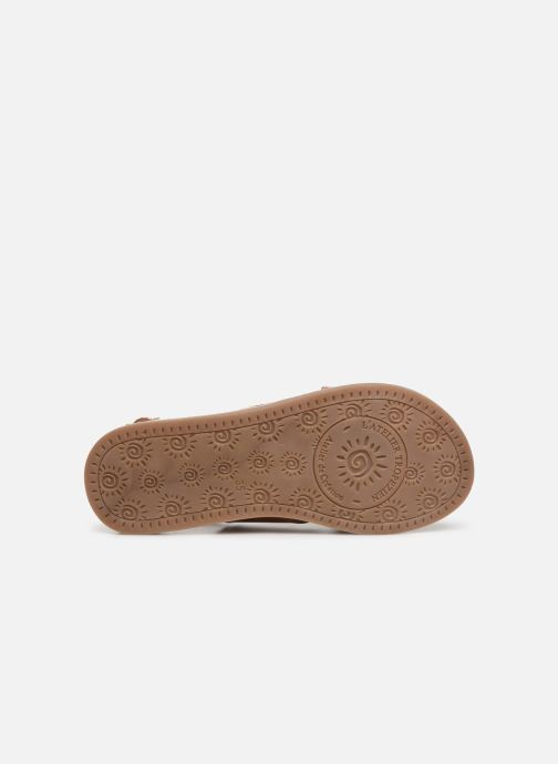 Sandales et nu-pieds L'Atelier Tropézien Agathe Marron vue haut