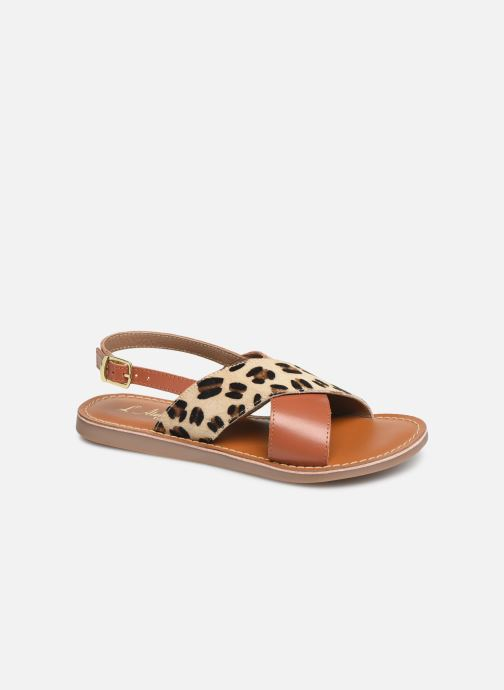 Sandales et nu-pieds L'Atelier Tropézien Agathe Marron vue détail/paire