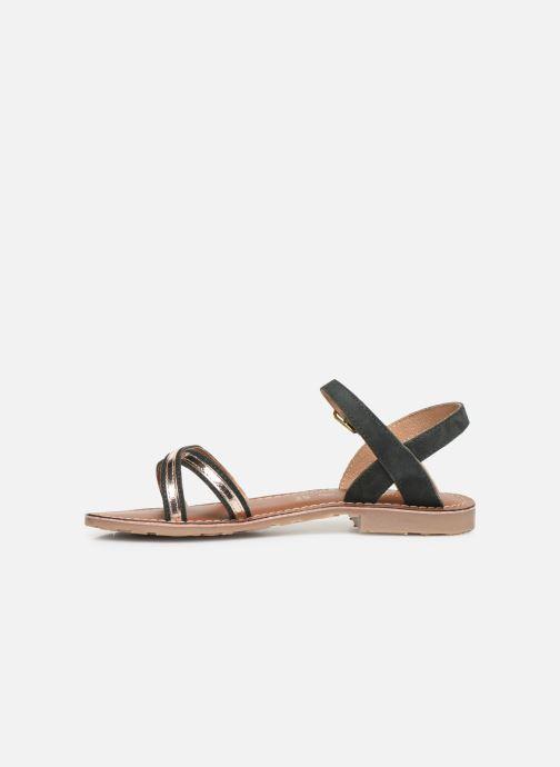 Sandales et nu-pieds L'Atelier Tropézien Romane Noir vue face