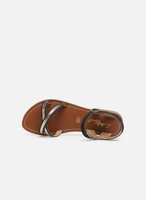 Sandales et nu-pieds L'Atelier Tropézien Romane Noir vue gauche