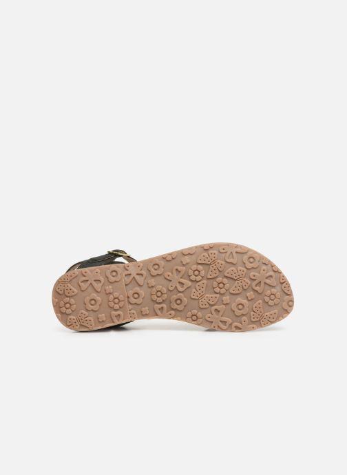 Sandales et nu-pieds L'Atelier Tropézien Romane Noir vue haut