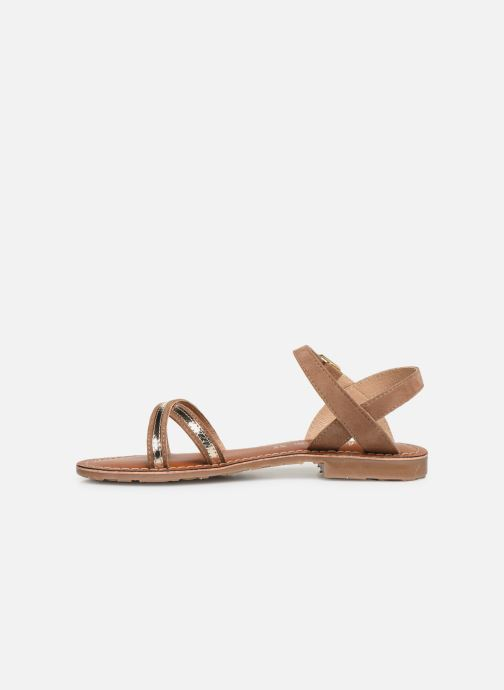 Sandales et nu-pieds L'Atelier Tropézien Romane Marron vue face