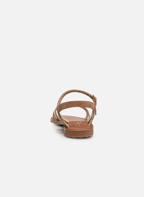 Sandales et nu-pieds L'Atelier Tropézien Romane Marron vue droite
