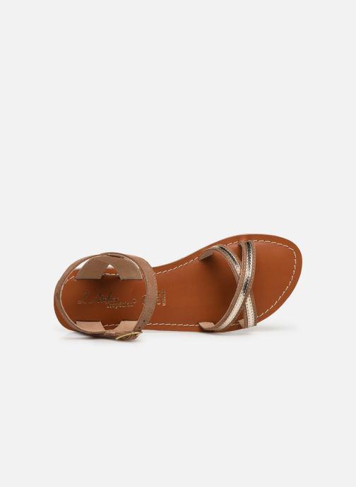 Sandales et nu-pieds L'Atelier Tropézien Romane Marron vue gauche