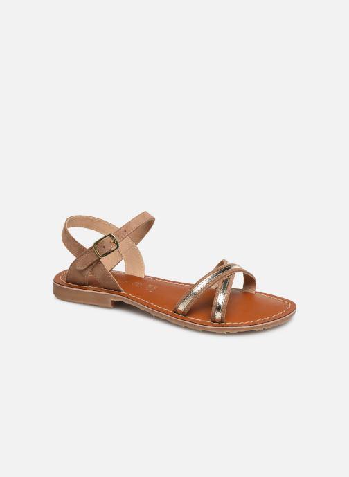 Sandales et nu-pieds L'Atelier Tropézien Romane Marron vue détail/paire