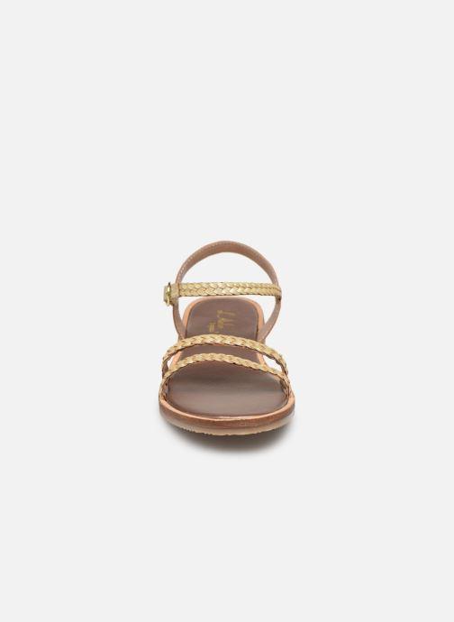 Sandales et nu-pieds L'Atelier Tropézien Alienor Or et bronze vue portées chaussures