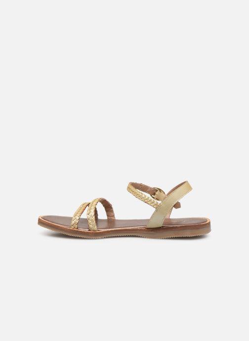Sandales et nu-pieds L'Atelier Tropézien Alienor Or et bronze vue face