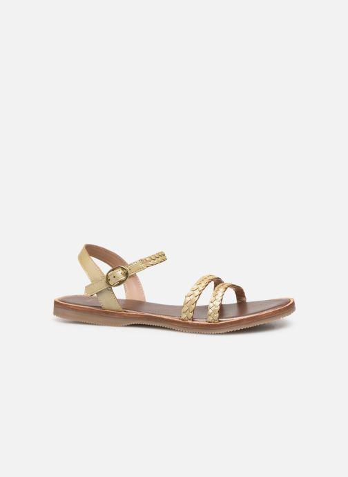 Sandales et nu-pieds L'Atelier Tropézien Alienor Or et bronze vue derrière