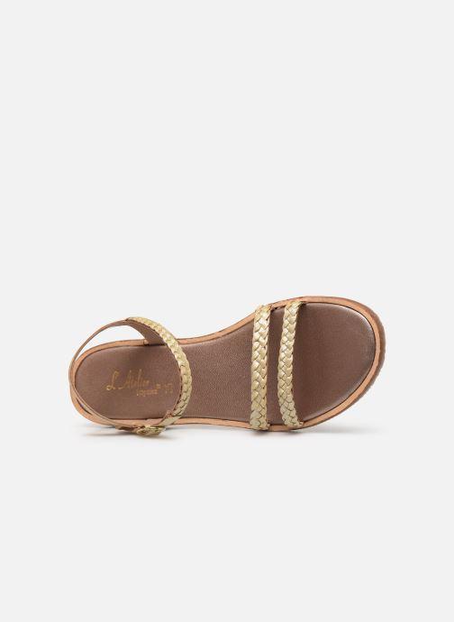 Sandales et nu-pieds L'Atelier Tropézien Alienor Or et bronze vue gauche