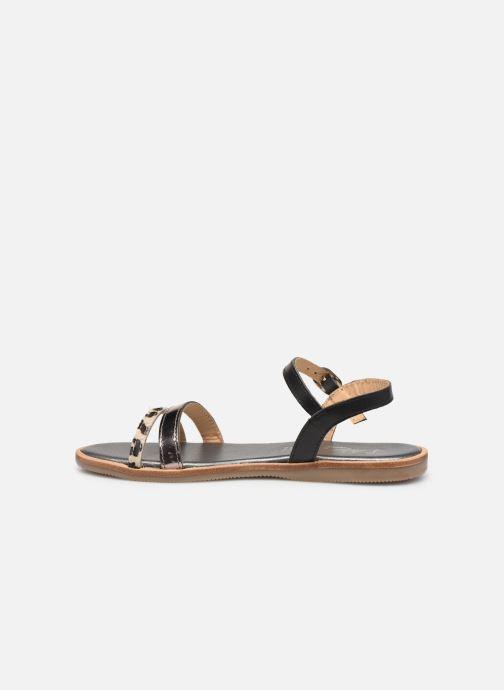 Sandales et nu-pieds L'Atelier Tropézien Mada Noir vue face