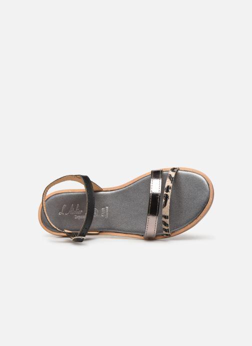 Sandales et nu-pieds L'Atelier Tropézien Mada Noir vue gauche