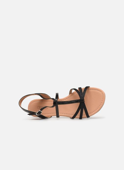 Sandals Esprit PEPE STRAP Black view from the left