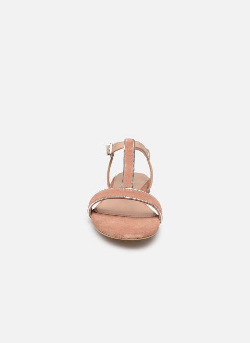 Sandales et nu-pieds Esprit CHERIE T STRAP Rose vue portées chaussures