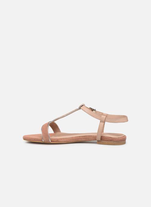 Sandales et nu-pieds Esprit CHERIE T STRAP Rose vue face