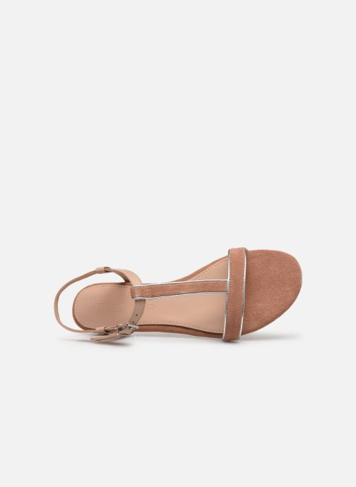 Sandals Esprit CHERIE T STRAP Pink view from the left