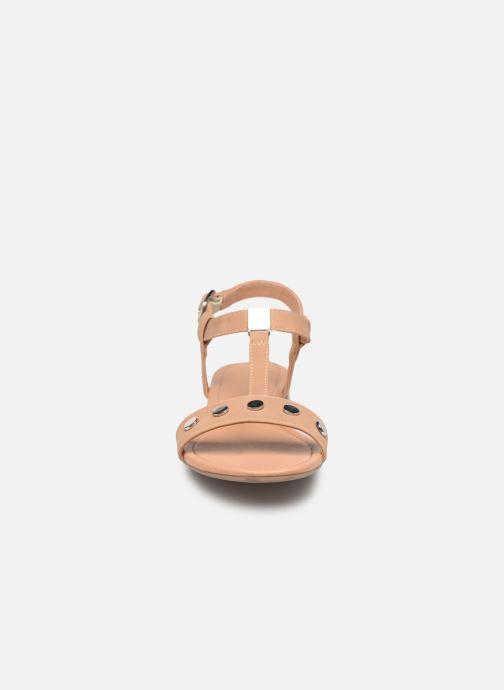 Sandales et nu-pieds Esprit PEPE STUDS Beige vue portées chaussures