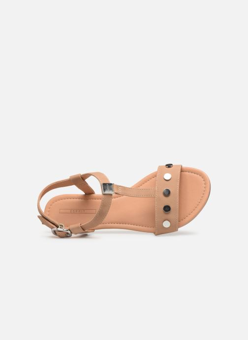 Sandals Esprit PEPE STUDS Beige view from the left