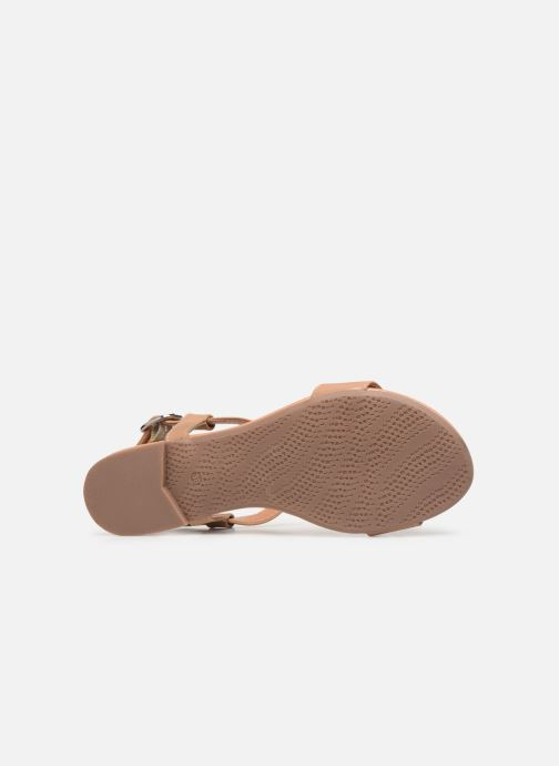 Sandals Esprit PEPE STUDS Beige view from above