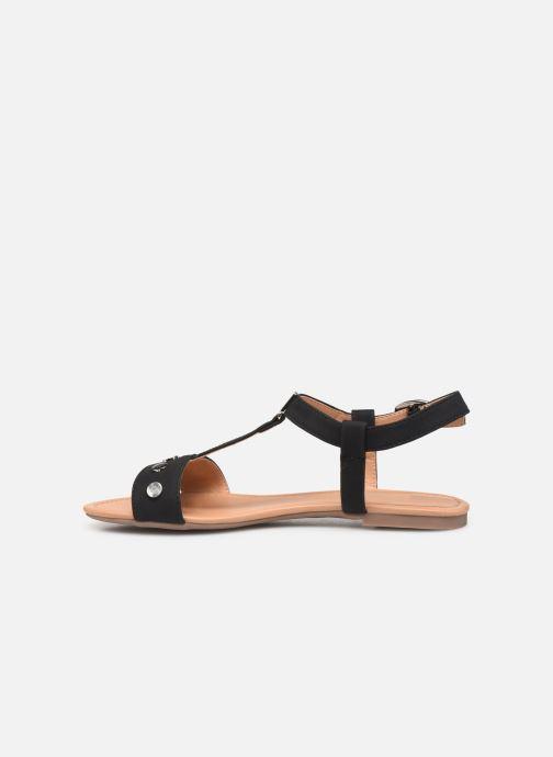Sandals Esprit PEPE STUDS Black front view