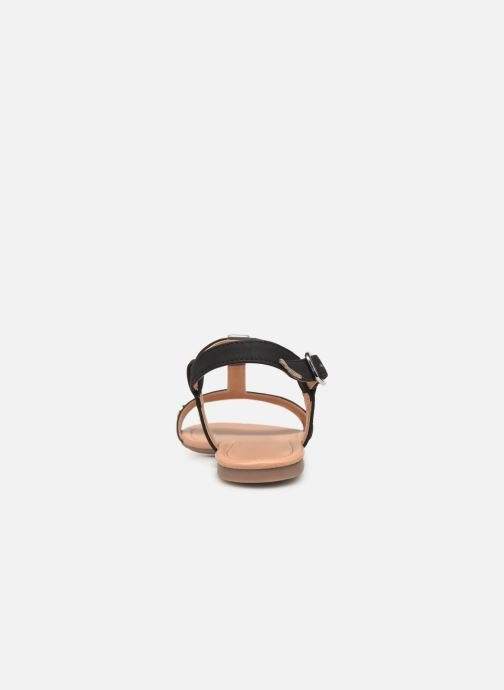Sandals Esprit PEPE STUDS Black view from the right