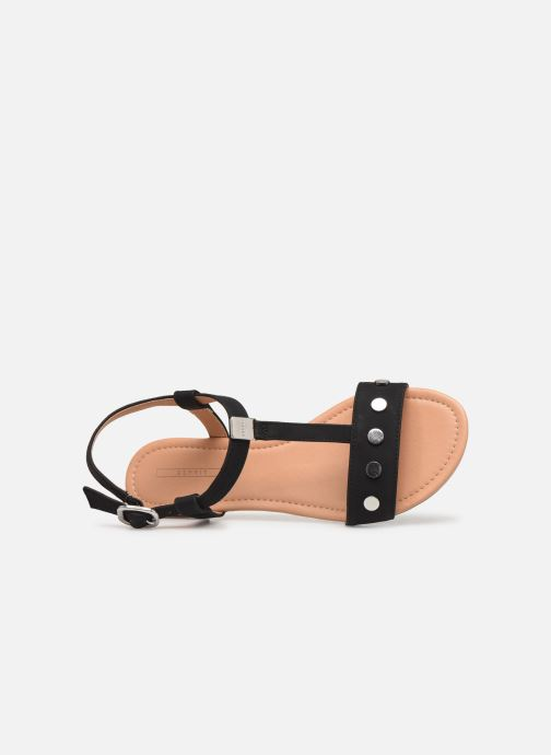 Sandals Esprit PEPE STUDS Black view from the left
