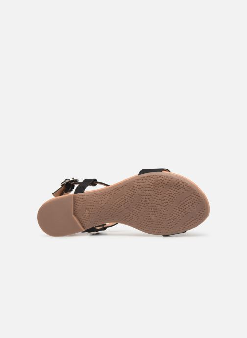 Sandals Esprit PEPE STUDS Black view from above