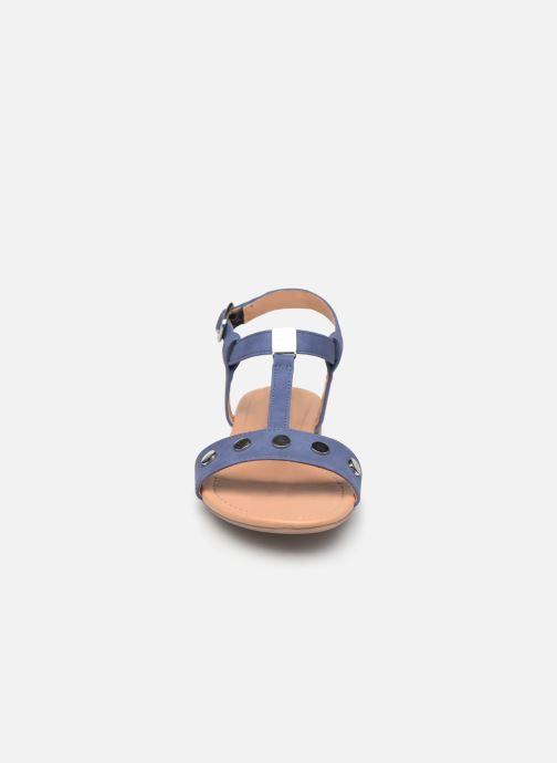 Sandales et nu-pieds Esprit PEPE STUDS Bleu vue portées chaussures