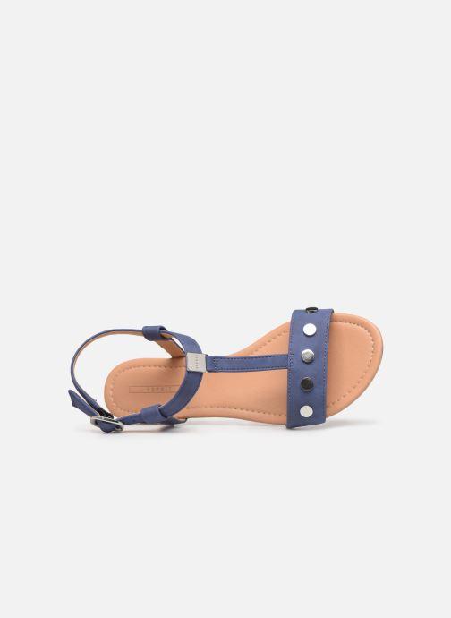 Sandales et nu-pieds Esprit PEPE STUDS Bleu vue gauche
