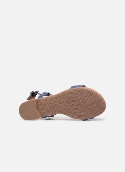 Sandales et nu-pieds Esprit PEPE STUDS Bleu vue haut