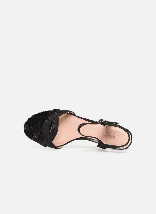 Sandales et nu-pieds Esprit DELFY WAVE Noir vue gauche