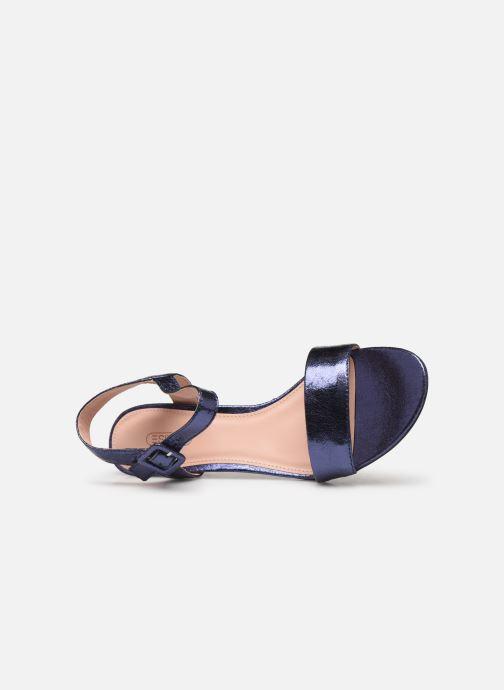 Sandales et nu-pieds Esprit DELFY MET SANDAL Bleu vue gauche