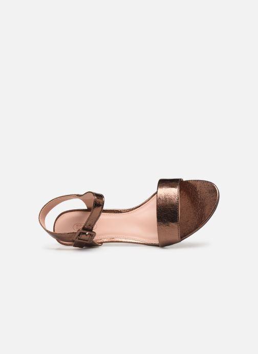 Sandales et nu-pieds Esprit DELFY MET SANDAL Or et bronze vue gauche