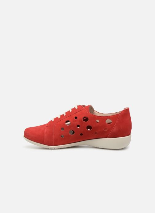 Chaussures à lacets Hirica Lexie Rouge vue face