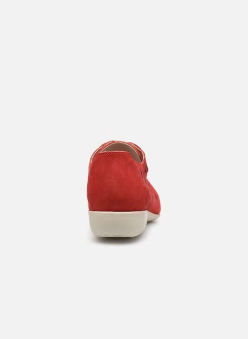 Snörade skor Hirica Lexie Röd Bild från höger sidan