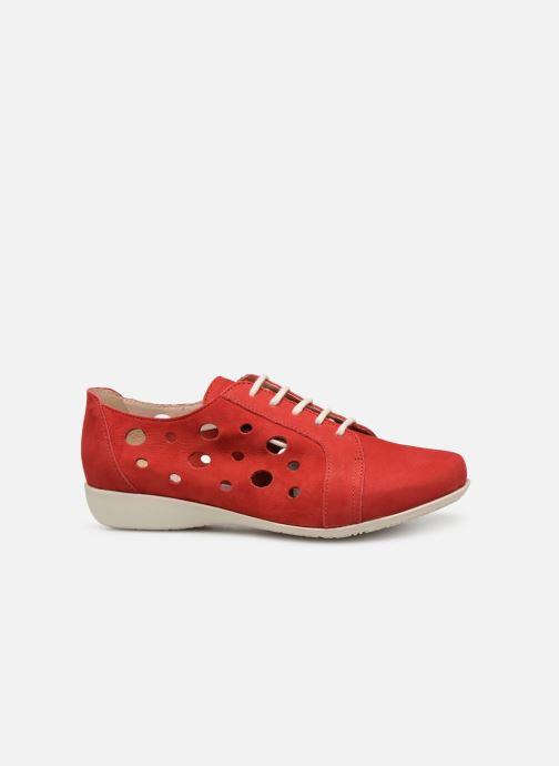 Snörade skor Hirica Lexie Röd bild från baksidan