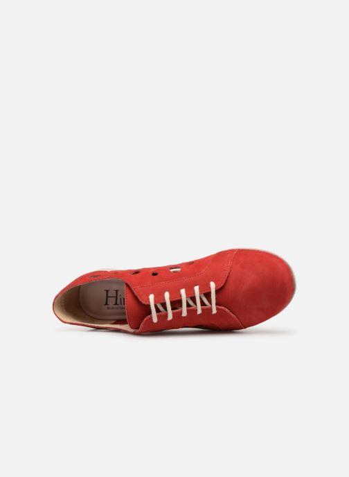 Snörade skor Hirica Lexie Röd bild från vänster sidan