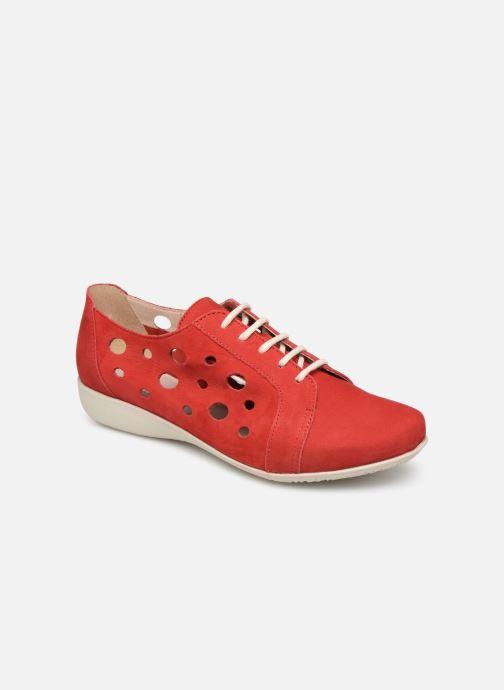 Chaussures à lacets Hirica Lexie Rouge vue détail/paire