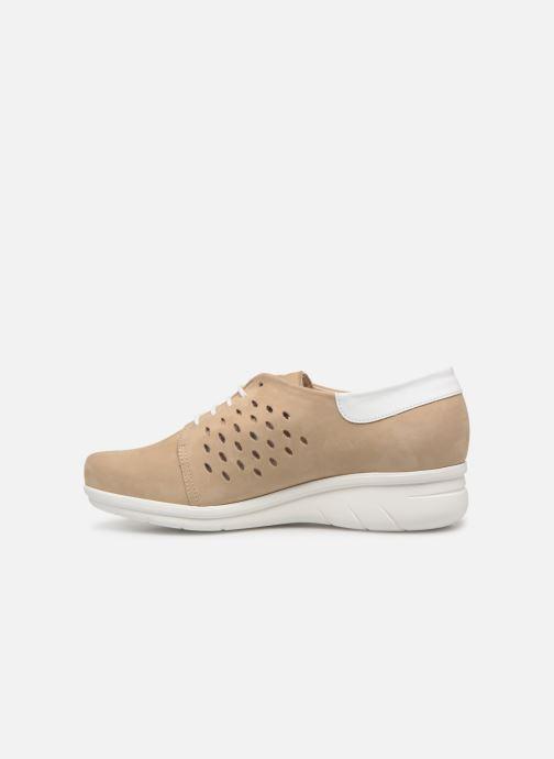 Chaussures à lacets Hirica Daniel Beige vue face