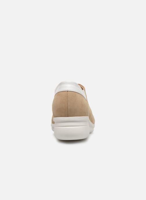 Snörade skor Hirica Daniel Beige Bild från höger sidan
