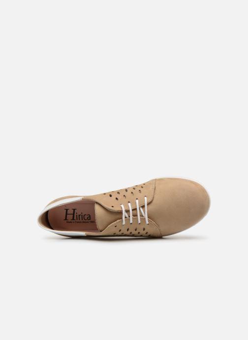 Chaussures à lacets Hirica Daniel Beige vue gauche