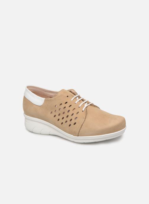 Chaussures à lacets Hirica Daniel Beige vue détail/paire
