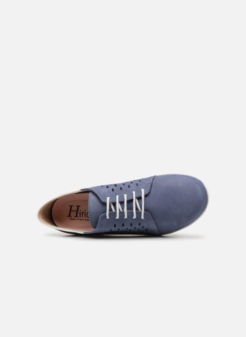 Snörade skor Hirica Daniel Blå bild från vänster sidan