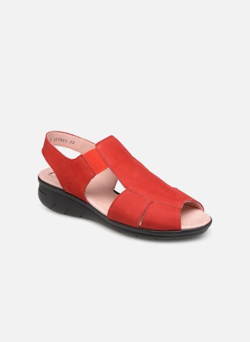 Sandaler Hirica Danube Röd detaljerad bild på paret
