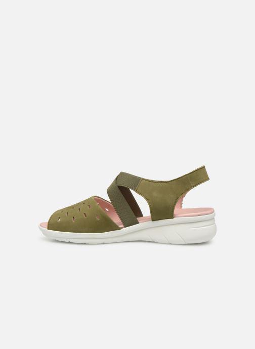 Sandales et nu-pieds Hirica Davina Vert vue face