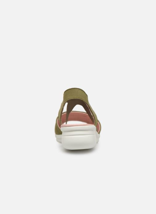 Sandales et nu-pieds Hirica Davina Vert vue droite