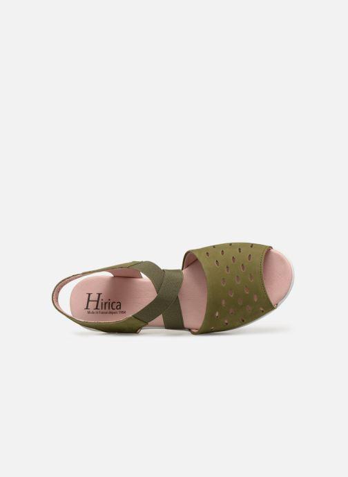 Sandales et nu-pieds Hirica Davina Vert vue gauche