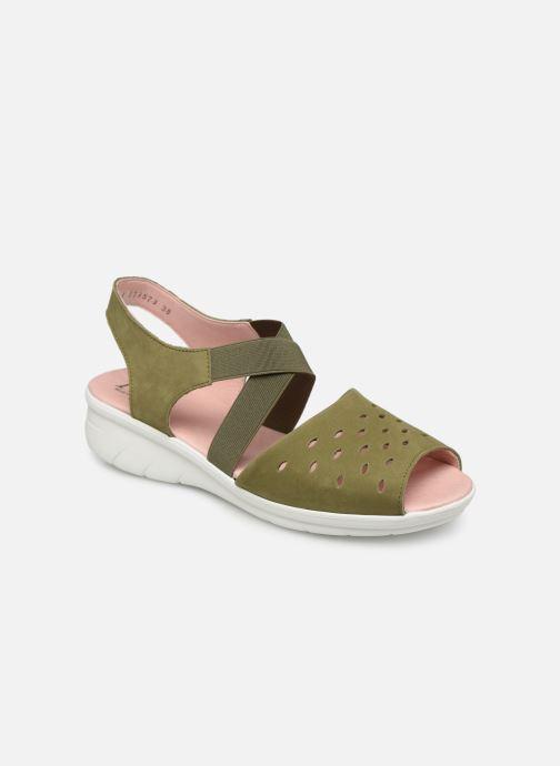Sandales et nu-pieds Hirica Davina Vert vue détail/paire