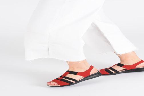 Sandales et nu-pieds Hirica Harriet Beige vue bas / vue portée sac