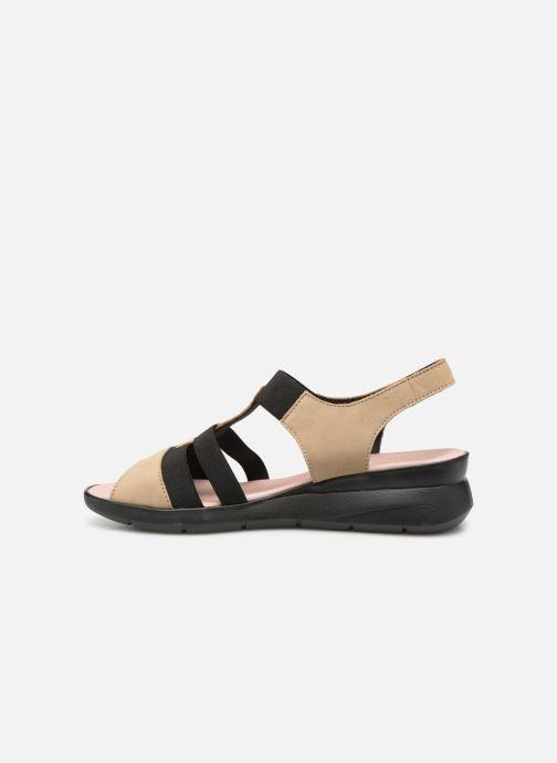 Sandales et nu-pieds Hirica Harriet Beige vue face