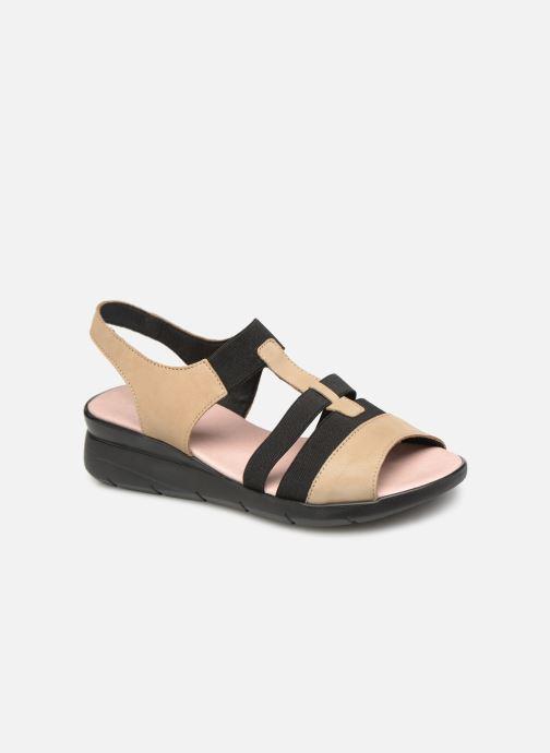 Sandales et nu-pieds Hirica Harriet Beige vue détail/paire